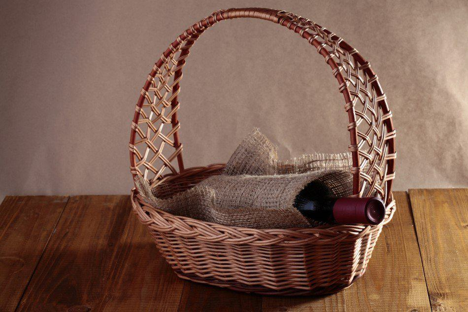 Gavekurv med vin
