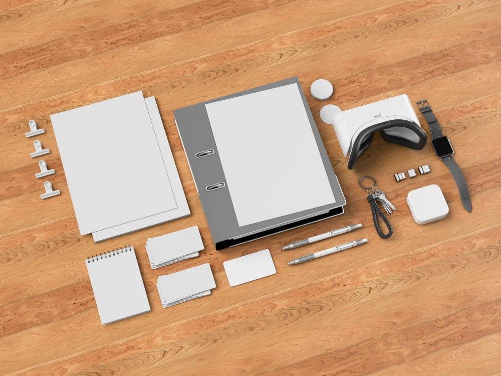 Gadgets på skrivebord