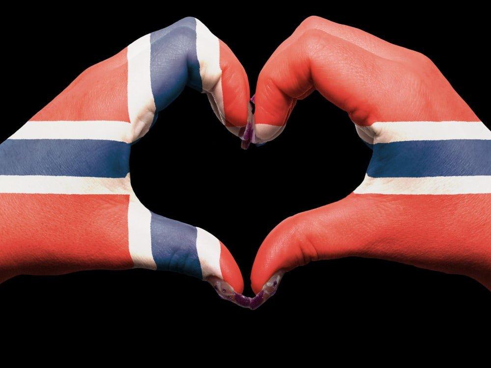 Hjerte af Norsk flag