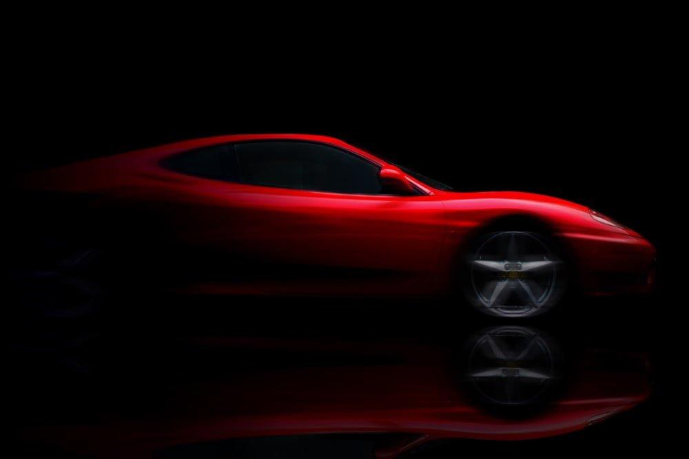 Rød sportsvogn